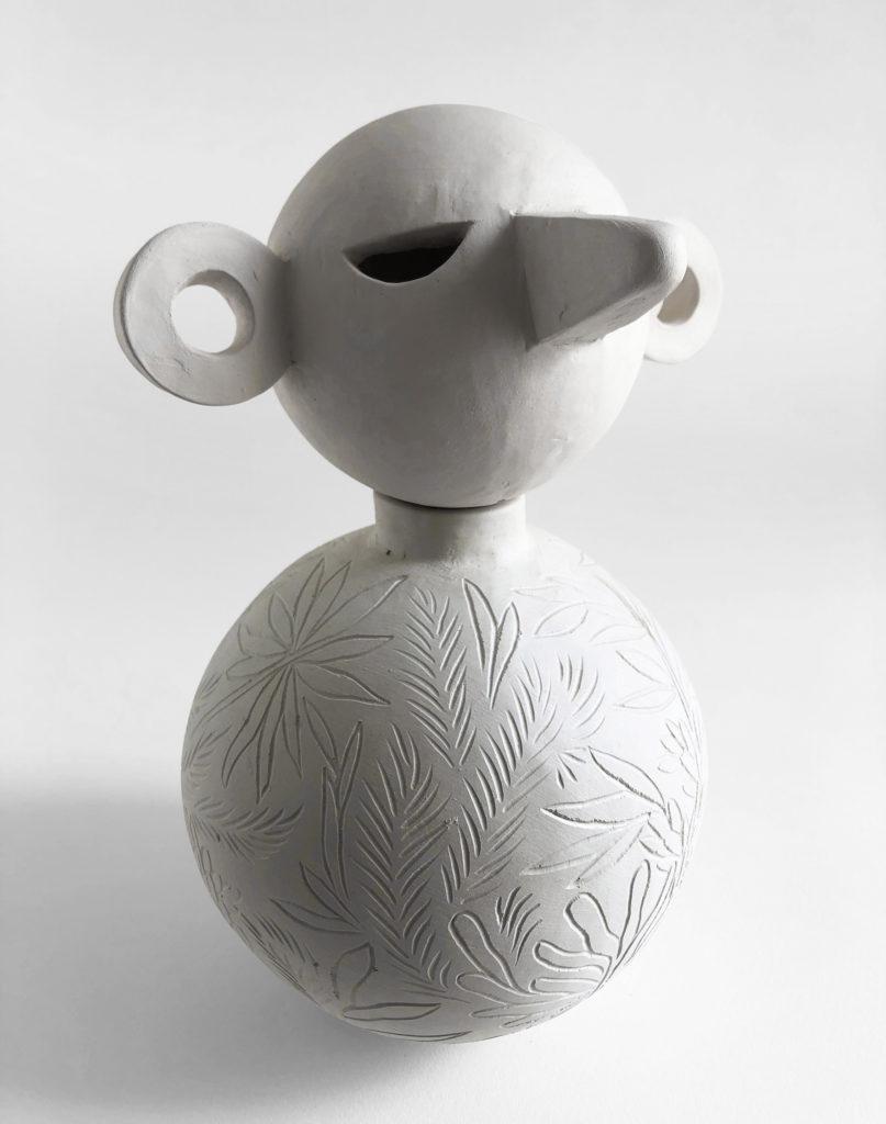 MESPROMENADES-CLEMENTARNAUD-Totem11-2020-38cm-céramique blanche